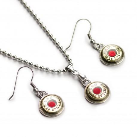 Set náhrdelník a naušnice rubin S&B