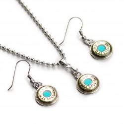 Set náhrdelník a naušnice Azur S&B .38