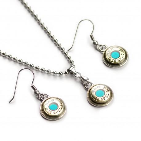 Set náhrdelník a naušnice Azur S&B