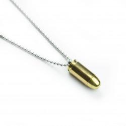 Náhrdelník náboj 9mm Browning