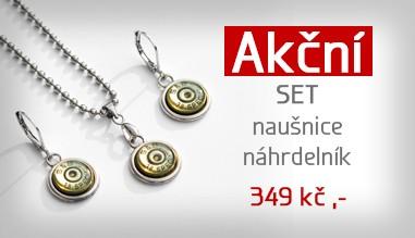Akce set náhrdelník z nábojů 349,-